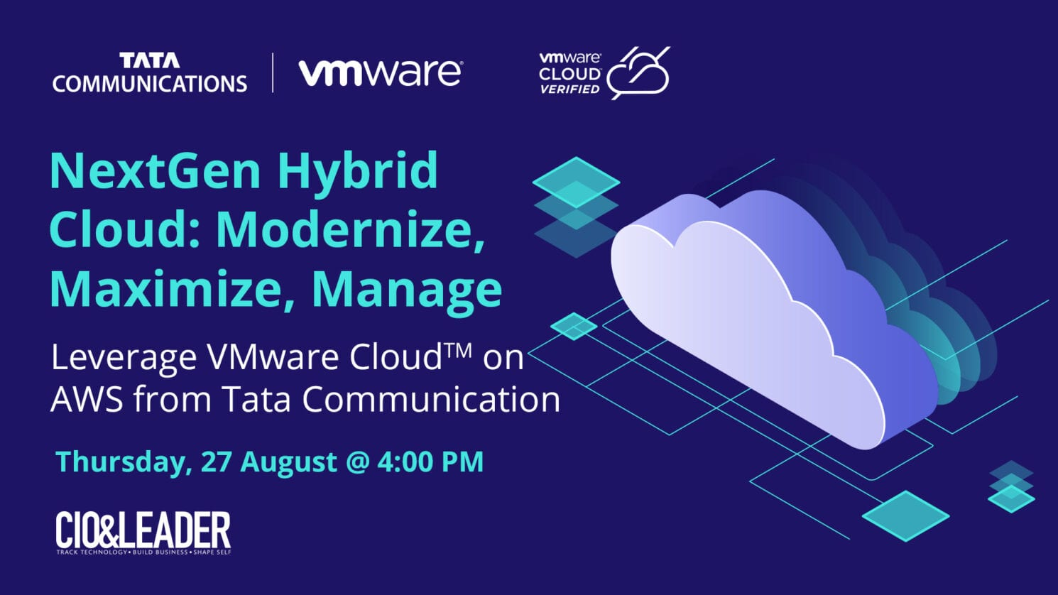 VMware Cloud™ on AWS, Managed by Tata Communications