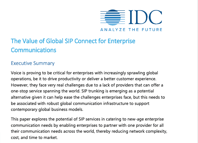 The Value of Global SIP Connect for Enterprise Communications