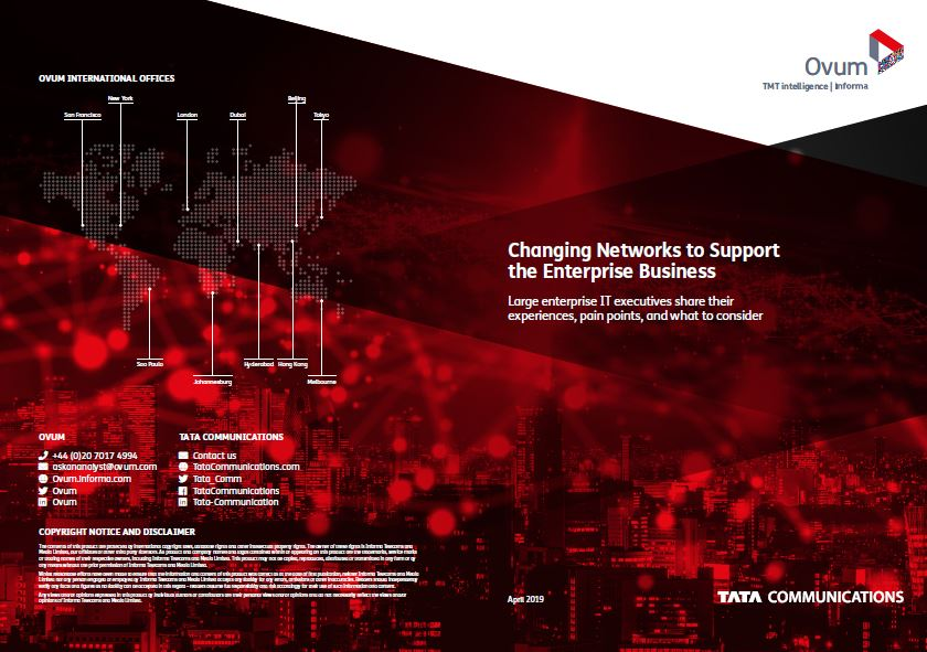 Changing Network to support the enterprise business